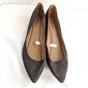 ☕Merona black suade flats size 7.5